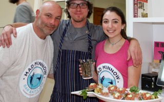 rolley travelers last year got to enjoy delightful samplings at Mad Minnow in Harwich Port. Owner Tony Gullotti, chef Michael Lynard and server Rachael Gullotti present a dish of delicate Ahi Tuna for tasting. DEBRA DECOSTA PHOTOS  (photo: )