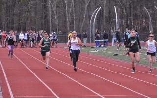 Cape Tech's Jasmine Garcia races to a close second-place finish in the 100M, posting a time of 13.97 in the Monomoy-Cape Tech meet against Sturgis. Kat Szmit Photo  (photo: )
