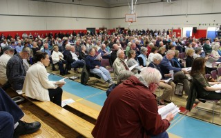 Harwich voters completed the annual town meeting Tuesday night. WILLIAM F. GALVIN PHOTO  (photo: )