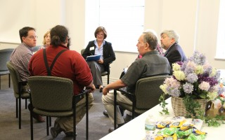 A breakout group at last Thursday's small business listening session at the Chatham Community Center. ALAN POLLOCK PHOTO  (photo: Alan Pollock)