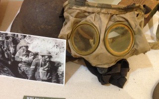 "World War I artifacts on display as part of the Atwood House Museum's exhibit ""Chatham in the Military."" DEBRA LAWLESS PHOTO  (photo: )"