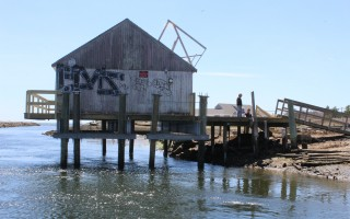 The fish house on the Herring River. FILE PHOTO  (photo: William F. Galvin)