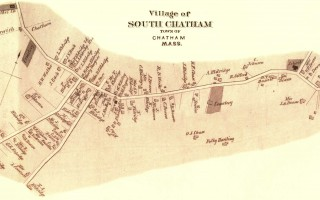 South Chatham from the 1880 Barnstable County Atlas. The neighborhood was well established, and many of the buildings listed still exist and could be part of a South Chatham National Historic Register District.  (photo: Picasa)