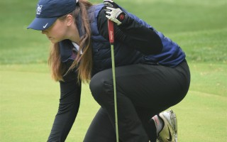 Monomoy's Madison Leonard lines up a putt during the South Sectionals on May 30. Leonard earned herself a trip to the state tourney with her score of 90. Caitlin Daley Photo  (photo: )