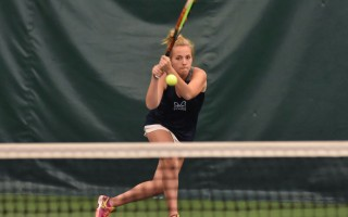 Monomoy's No. 1 singles player Carly Donovan played to a commanding win in the MIAA Div. 3 South quarterfinals on Tuesday. Kat Szmit Photo 