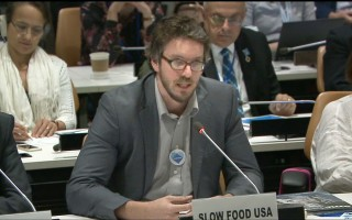 Chatham native Brett Tolley. UN WEB TV  (photo: Courtesy United Nations.)