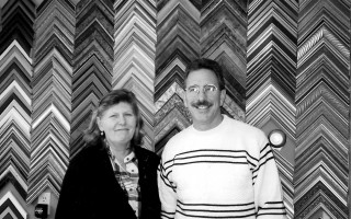 Judy and David Sadoski of Port Framing in Harwich Port. Jan. 2002. FILE PHOTO  (photo: )