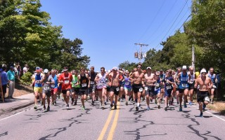 Runners set out in the 2016 Chatham Harbor Run. The 2017 race will be run in Chatham on Sunday, June 25 with a noon start. File Photo  (photo: Kat Szmit)