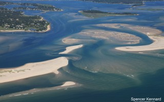 A new cut off the northern tip of North Beach Island over the weekend. Officials are watching the situation to see if the change begins to shift the dominant flow of water between Pleasant Bay and the ocean from the 1987 inlet to the south to the 2007 inlet. SPENCER KENNARD/CAPECODPHOTOS.COM  (photo: )
