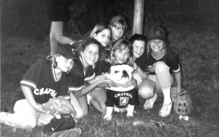 Members of Chatham Girls' Softball Team (The Jackson 15) from left to right: Sunny Fellman, Elizabeth Baker, Erin Dyer, Heather  Lovering, Madeline Wills, Kathleen McAuliffe, Dana Hammatt. July 1995. FILE PHOTO  (photo: )