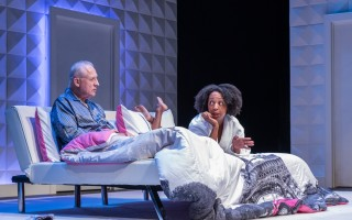 "Ron Komora and Jackie Davis in ""The Empaths"" At WHAT. MICHAEL AND SUZ KARCHMER  (photo: Michael and Suz Karchmer)"