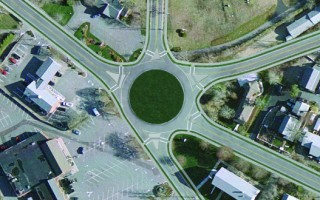Computer rendering of a possible roundabout at the Crowell Road/Route 28 intersection.  (photo: weimer_s)