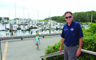 Harbormaster John Rendon is looking forward to the major dock and float replacement project scheduled to begin in mid-October in Saquatucket Harbor. WILLIAM F. GALVIN PHOTO  (photo: William F. Galvin)
