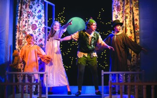 "Henry Cramer, Grace Barrett, Jacobus Kwaak and Charles Barrett in ""Peter Pan and Wendy"" at the Cape Cod Theatre Company. NICOLE GOWAN PHOTOGRAPHY    (photo: Nicole Gowan)"
