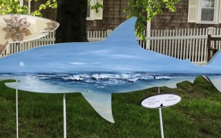 The Steve Lyons Gallery shark received the top bid in this year's Sharks in the Park auction, pulling in $2,650. COURTESY PHOTO  (photo: )