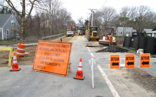Sewer construction in Chatham.  FILE PHOTO  (photo: Alan Pollock)