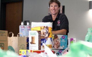 Chatham Firefighter James Young helped organize the donations collected for victims of Hurricane Harvey. ALAN POLLOCK PHOTO  (photo: Alan Pollock)
