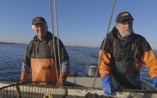 "Nantucket scallopers Carl Sjolund and Bruce Cowan appear in ""The Last Bay Scallop?"" COURTESY PHOTO  (photo: )"