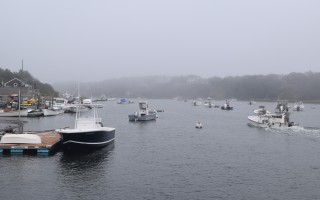 Boats moored in the Oyster River, near the Barn Hill Road landing. TIM WOOD PHOTO  (photo: )