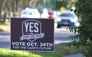 Signs along local roadways urge voters to support the Oct. 24 ballot question on funding a new Cape Cod Technical High School building. KAT SZMIT PHOTO  (photo: )