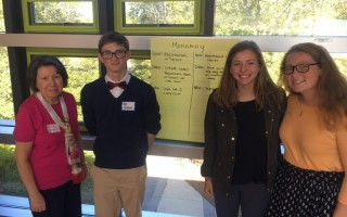 Three students represented MRHS at the Engaging Youth in Voter Participation Workshop at Cape Cod Community College on Friday, Oct. 20. Cesca Barr, Livia Graham, and Ted Clifford were among the approximately 30 participants from across the Cape who brainstormed ideas for how to increase registration and voting rates amount young people. They developed several proposals which they will try to implement this year. Thanks to the League of Women Voters for the Cape Cod Area for sponsoring the event. 