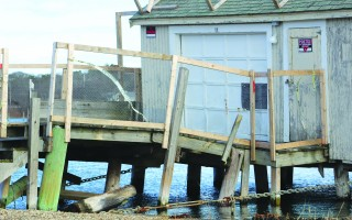 The conservation commission determined the fishhouse on the Herring River can be used as a shellfish nursery. Architectural Research Corporation of Dennis plans to grow out oysters, quahogs and surf clams at the facility. This photo is of the fishhouse was taken before it was shored up this past spring. WILLIAM F. GALVIN PHOTO  (photo: )