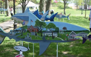 From this year's Sharks in the Park display. Next summer will be the last for the artistically decorated sharks, which will be replaced by a different display in the summer of 2019. FILE PHOTO  (photo: Tim Wood)