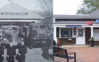 The Old Firehouse, seen back in its day as an actual firehouse (left) and as it stands today on Main Street.  COURTESY PHOTO AND ED MARONEY PHOTO  (photo: Ed Maroney)
