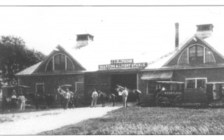 The historic property was home to a large livery stable, pictured here. The structure was in an advanced state of disrepair and could not be salvaged. COURTESY PHOTO  (photo: )