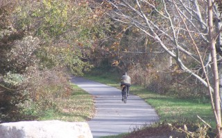 In July and August, the Cape Cod Rail Trail near Orleans Cycle sees an average of 250 cyclists in an 8-hour period. There's talk again about another route for bikes, this one connecting South Orleans and the village center, possibly through the town's watershed. Only walking, jogging, and cross-country skiing are allowed there now.  ED MARONEY PHOTO  (photo: Ed Maroney)