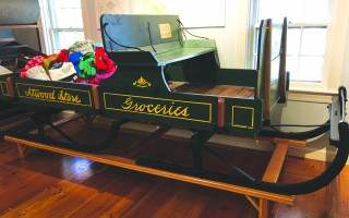 The restored Atwood Store delivery sleigh, on display at the Chatham Historical Society. COURTESY PHOTO  (photo: Chatham Historical Society)