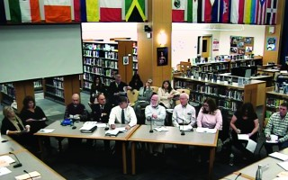 Chatham and Harwich selectmen attended a special session of the Monomoy School Committee last week to talk about potential changes to the regional school agreement. MRSD-TV PHOTO  (photo: MRSD-TV)
