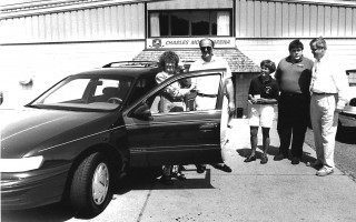 Jane Adams takes the keys of a new Ford Taurus she won in a raffle from Jeff McGulre of the Charles Moore Arena. Rink manager Judy Kostas, Ed Storey of Chatham Ford and Hank Colleran of Watson's share in the moment. 1995. FILE PHOTO  (photo: )