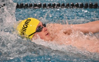 Nauset senior Carlisle Nash ruled the pool with the Warriors last weekend in the Bay Colony Conference Relay Carnival, posting a new record with teammates Jack Johnson, Tanner Cornell, and Coleman Norton in the 200 medley relay. Kat Szmit Photo  (photo: )