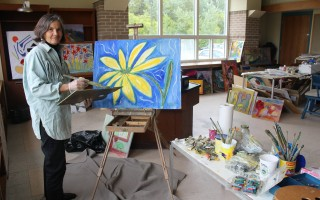 Artist Georgene Riedl works inside her studio at the Harwich Cultural Center. FILE PHOTO  (photo: )