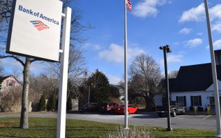 The Bank of America office on Old Harbor Road in Chatham will close March 27. TIM WOOD PHOTO  (photo: )