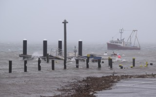 Chatham Fish Pier sough jog was awash during last Thursday's winter storm. TIM WOOD PHOTO  (photo: )