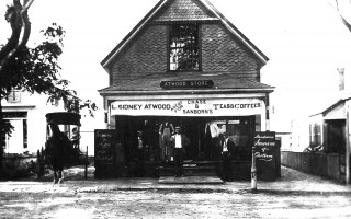 The Atwood Store on Main Street, across from the Wayside Inn. The building still exists; it was surrounded by a new brick structure in the early 1900s and today houses several businesses, including Bluefins. CHATHAM HISTORICAL SOCIETY PHOTO    (photo: )