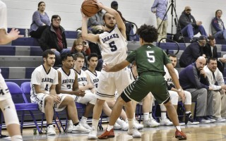 Max Liska (5 white) keeps the ball away from West's Curtis Merritt (5 green) as teammates Isaiah Stafford, Kyle Charlot, Connor Santoni, and Nick Meehan keep an eye on the action.  KAT SZMIT  (photo: Kat Szmit)