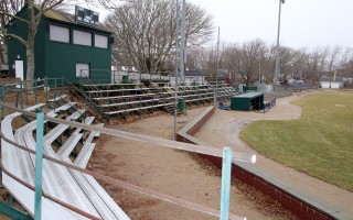 The town and the Chatham Athletic Association are seeking $450,000 in community preservation funds to replace aging bleachers at Veterans Field, one of more than a dozen projects seeking CPA funds this year. ALAN POLLOCK PHOTO  (photo: )
