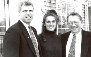 Alan and Patricia Long announced this week that they have acquired full ownership of Eldredge and Lumpkin Insurance from James Young, right.1997. FILE PHOTO  (photo: )