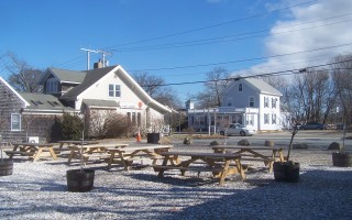 "This site off Route 6A near the intersection with Main Street could host six food trucks and a ""container bar"" this summer. ED MARONEY PHOTO  (photo: )"