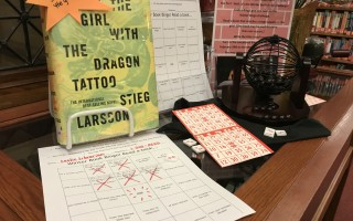 The Book Bingo display at the Eldredge Public Library. Completed bingo sheets are due Feb. 28.  (photo: )