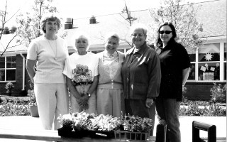 Members of the Chatham Garden Club's flower show committee left: Judy Doe, Doss Cummings, Marilyn Allen, Fran Triventi, and Erica DeZitter.  2000. FILE PHOTO  (photo: )