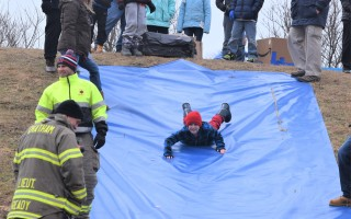 Even though there was no snow, a Sliders and Slices event at Monomoy Middle School in January attracted a large group of kids who made connections with school staff, firefighters and students. FILE PHOTO  (photo: )