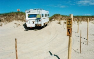 A camper on North (Nauset) Beach.  FILE PHOTO  (photo: Alan Pollock)