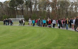 A long line of people participated in last year's Suicide Awareness Walk. CONTRIBUTED PHOTO  (photo: )