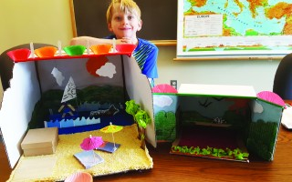 "Nolan Strzepek displays a Long Pond diorama he has created to be part of the ""I Love Harwich"" ArtWeek diorama exhibit to be held at the Harwich Cultural Center. COURTESY PHOTO  (photo: )"
