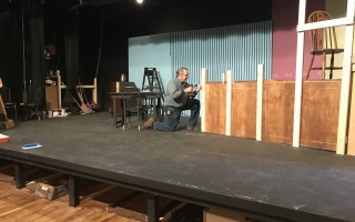 Scott Hamilton works on the new stage at the Chatham Drama Guild. DON HOWELL PHOTO  (photo: )