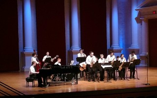 The First Encounter Jazz Ensemble commands the stage at the Atlanta Heritage Festival in a gold medal performance. COURTESY PHOTO  (photo: )